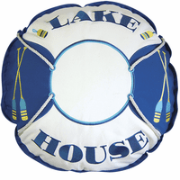 Shaped Lake House Preserver Pillow