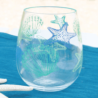 Shell Acrylic Stemless Wine Glass