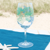 Shell Acrylic Wine Glass