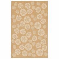 Shell Array Camel Indoor/Outdoor Rug Collection