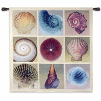 Shell Collection Large Wall Tapestry