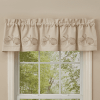 Shell Collection Lined Embroidered Valance - OVERSTOCK