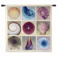 Shell Collection Small Wall Tapestry