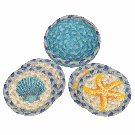Shell Collector Braided Coaster Set - 5 Pcs