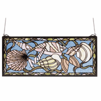 Shell Compilation Stained Glass Window