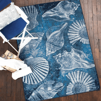Shell Island Ultramarine Rug Collection