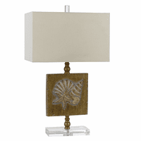 Shell Plaque Table Lamp