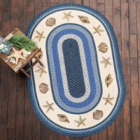 Shell & Starfish Braided Rug Collection