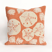 Shell Toss Coral Indoor/Outdoor Pillow