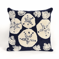 Shell Toss Navy Indoor/Outdoor Pillow
