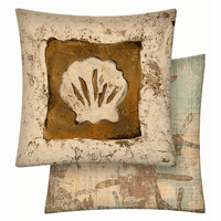 Shell Vinyl Pillow - 18 x 18