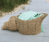 Shell Woven Basket - OUT OF STOCK UNTIL 12/4/2020