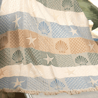 Shells and Lattice Throw Blanket