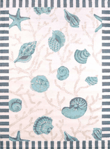 Shells Blue Rug Collection