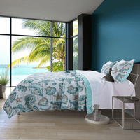 Shells & Script 2 Piece Quilt Set - Twin