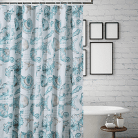 Shells & Script Shower Curtain