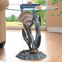 Shells & Seagrass End Table