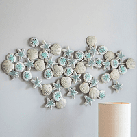 Shells & Starfish Iron Wall Art - OUT OF STOCK UNTIL 2/1/2021