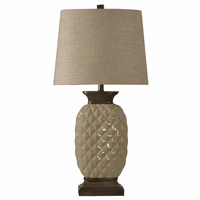 Shiny Ceramic Pineapple Table Lamp