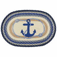 Ship's Anchor Braided Accent Rug