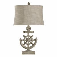 Ship's Wheel & Anchor Table Lamp