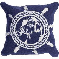 Ship's Wheel Dog Indoor/Outdoor Pillow