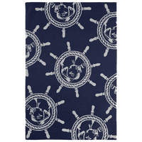 Ship's Wheel Dog Indoor/Outdoor Rug Collection