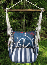 Ship Wheel Marina Stripe Swing Set
