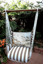 Shore Birds Chocolate Stripe Swing Set