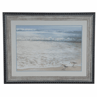 Shorebird Walk Framed Art