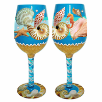 Shoreside Shells Wine Glasses - Set of 4