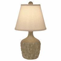 Short Basketweave Accent Lamp