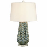 Siesta Key Blue Decorated Table Lamp