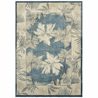 Siesta Key Blue Palm Rug Collection