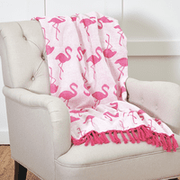 Siesta Key Flamingo Chenille Throw