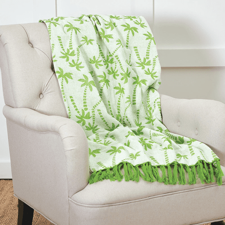 Siesta Key Palms Chenille Throw