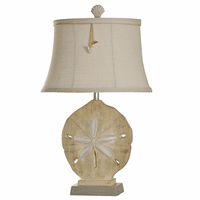 Silver Accented Sand Dollar Table Lamp