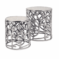 Silver Coral Tables - Set of 2