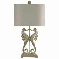 Silver Seahorse Duo Table Lamp