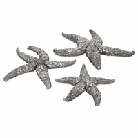 Silver Starfish Wall Decor - Set of 3