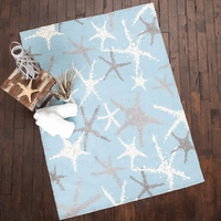 Silver Stars Rug - 2 x 5 - OVERSTOCK