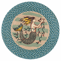 Single Mermaid Round Patch Rug - OVERSTOCK