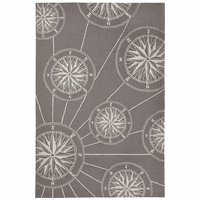 Skipper's Compass Gray Indoor/Outdoor Rug Collection