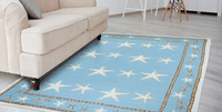 Sky Blue Starfish Indoor/Outdoor Rug Collection