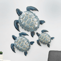 Slate Bay Turtles Wall Art - Set of 3