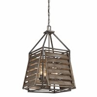 Slatted 4 Light Outdoor Pendant