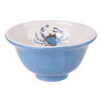 Small Light Blue Crab Bowls - Set of 6