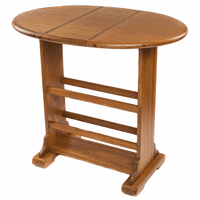 Small Teak Drop-Leaf Table