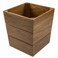Small Teak Waste Basket