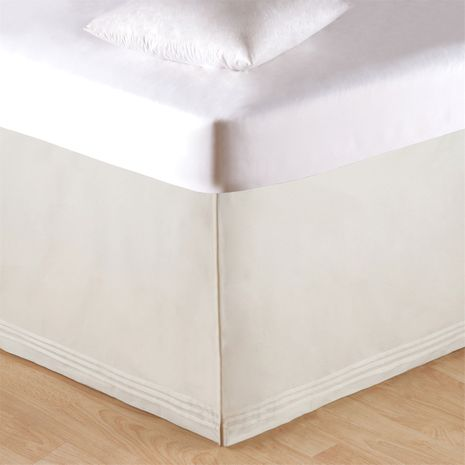 Soft White Tailored Bedskirt - Twin